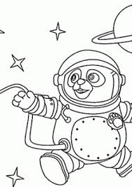 Agent OSO Astronaut Coloring Pages For Kids Printable Free