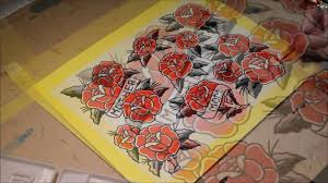 Sailor Jerry Style Roses