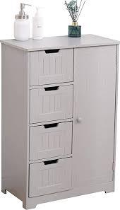 badezimmermöbel platzsparend kommode grau für küche eingangsbereich 4 schubladen 1 tür holz 55 x 30 x 81 cm taupe schrank