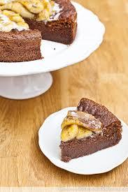 schoko kokos kuchen mit karamellisierten bananen lecker