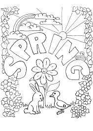 Spring Coloring Pages Kids Best For