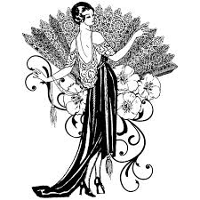 Art Deco Lady Vintage Inspired Fashion Designs Pinterest Art
