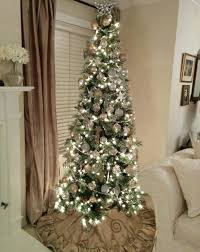 Download Decorated Slim Tree Skinny Christmas White Trees For Sale