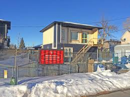 100 Shipping Crate Home Excitement Builds Around Calgarys First Laneway Shippingcontainer