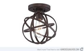 Brilliant 15 Semi Flush Mount Lighting For Rustic Interiors Home Design Lover Pertaining To Bronze Ceiling Light Fixtures