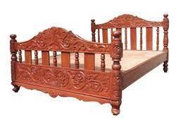 Teak Wood Cot Sagvan Ki Khaat Sree Balaji Modular Furniture