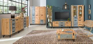 wohnzimmer komplett set b atule 8 teilig farbe eiche grau