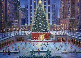 Christmas Tree Rockefeller Center Live Cam by Amazon Com Nyc Christmas Puzzle 1000 Piece Toys U0026 Games