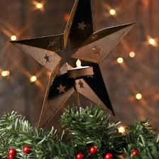 Rustic Christmas Tree Topper Rusty Barn Star Trees And Toppers Winter Holiday Crafts