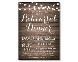 Rehearsal Dinner Invitation Rustic Wedding Invite CL101