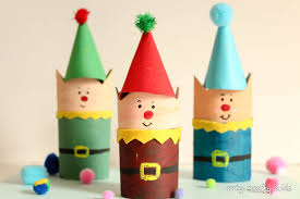 Cardboard Tube Christmas Elf Craft