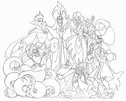 Disney Villain Coloring Pages Intended To Inspire Color An And Villains