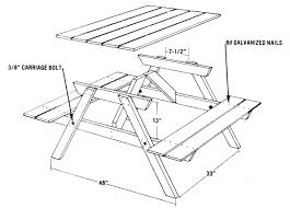 picnic tables blueprints outdoor patio tables ideas