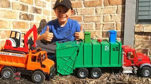 100 Dump Trucks Videos Garbage Truck For Children L Bruder Mack Granite Truck