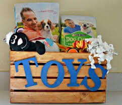 diy toy bin for your dog my latina table