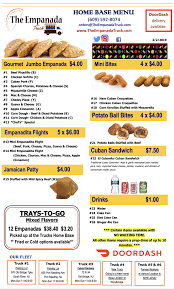 100 The Empanada Truck Menu