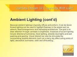 Lighting design 101 layering with light