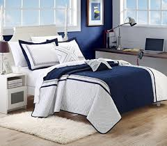 Black White and Blue Bedding