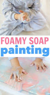 Finger Paint Bath Soap by Foamy Soap Painting For Toddlers I Can Teach My Child