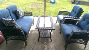 Outsunny Patio Furniture Assembly Instructions by Tuscany 4 Piece Conversation Set Youtube