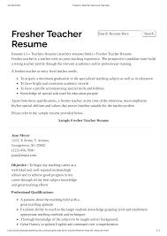 Preschool Teacher Resume With No Experience Main Image