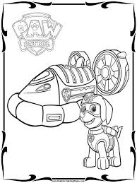 Vehicle Paw Patrol Coloring Pages