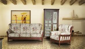 canap bois et tissu canapé classique en bois en tissu 3 places iowa nieri