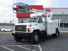 2002 GMC TOPKICK C7500 CABLE PLAC BUCKET BOOM TRUCK FOR SALE #593115