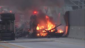 100 Truck Driving Schools In Los Angeles 2 Killed In Fiery Tanker Crash On 105 Freeway In Hawthorne Abc7com
