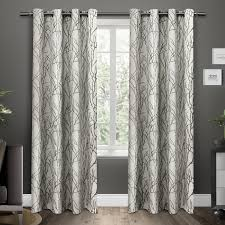 Striped Curtain Panels 96 by Branches Grommet Top Window Curtain Panels Black Pearl Set Of 2