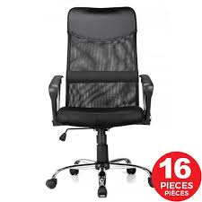 Adjustable Mesh Office Chair With Fixed Arms, High Back, Fabric Seat, Black  - Moustache® - 1 Pack Kadirya Recling Leather Office Chairhigh Back Executive Chair With Adjustable Angle Recline Locking System And Footrest Thick Padding For Comfort Lazboy Steve Contemporary Europeaninspired Moby Black Low Flash Fniture High Burgundy The Best Office Chair Of 2019 Creative Bloq Keswick Lift Rise Strless Ldon Nationwide Delivery City Batick Snow Chrome Base Recliner By Ekornes Gaming Chairs Obg65bk Details About Ergonomic Armchair