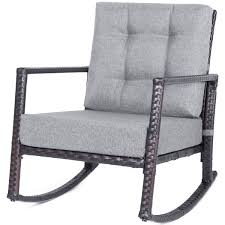 Merax Patio Chairs Outdoor Glider Rattan Rocker Chair Wicker Rocking Chairs  With Grey Cushions For Porch Garden Lawn Deck Kampmann Outdoor Wicker Rocking Chair With Cushions Harmony Patio Blackwhite Mesh Cast Alinum Frame On Porch Black Resin Indoor Chairs Elegant 52 Currituck Sophisticated Relaxing Ratan Fniture Acceptable Antique Prices Buy Pricesratan 3pc Rocker Set With Brick Red Cushion Intertional Caravan San Tropez Gliders Rockers Sale Kmart Childrens