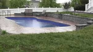 Gorgeous Fiberglass Pool W/ Retaining Wall: Solutions For Sloped ... Brick Garden Wall Designs Short Retaing Ideas Landscape For Download Backyard Design Do You Need A Building Timber Howtos Diy Question About Relandscaping My Backyard Building Retaing Fire Pit On Hillside With Walls Above And Below 25 Trending Rock Wall Ideas Pinterest Natural Cheap Landscaping A Modular Block Rhapes Sloping Also Back Palm Trees Grow Easily In Out Sunny Tiered Projects Yard Landscaping Sloped