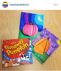 The Runaway Pumpkin by Teach And Shoot Fall Pumpkin Art Lessons Color Value And