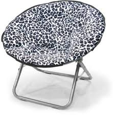 buy leopard faux fur saucer chair features sturdy aluminum