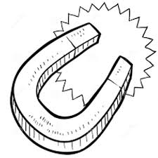 Magnet Coloring Pages 6 Printable Horse Shoe