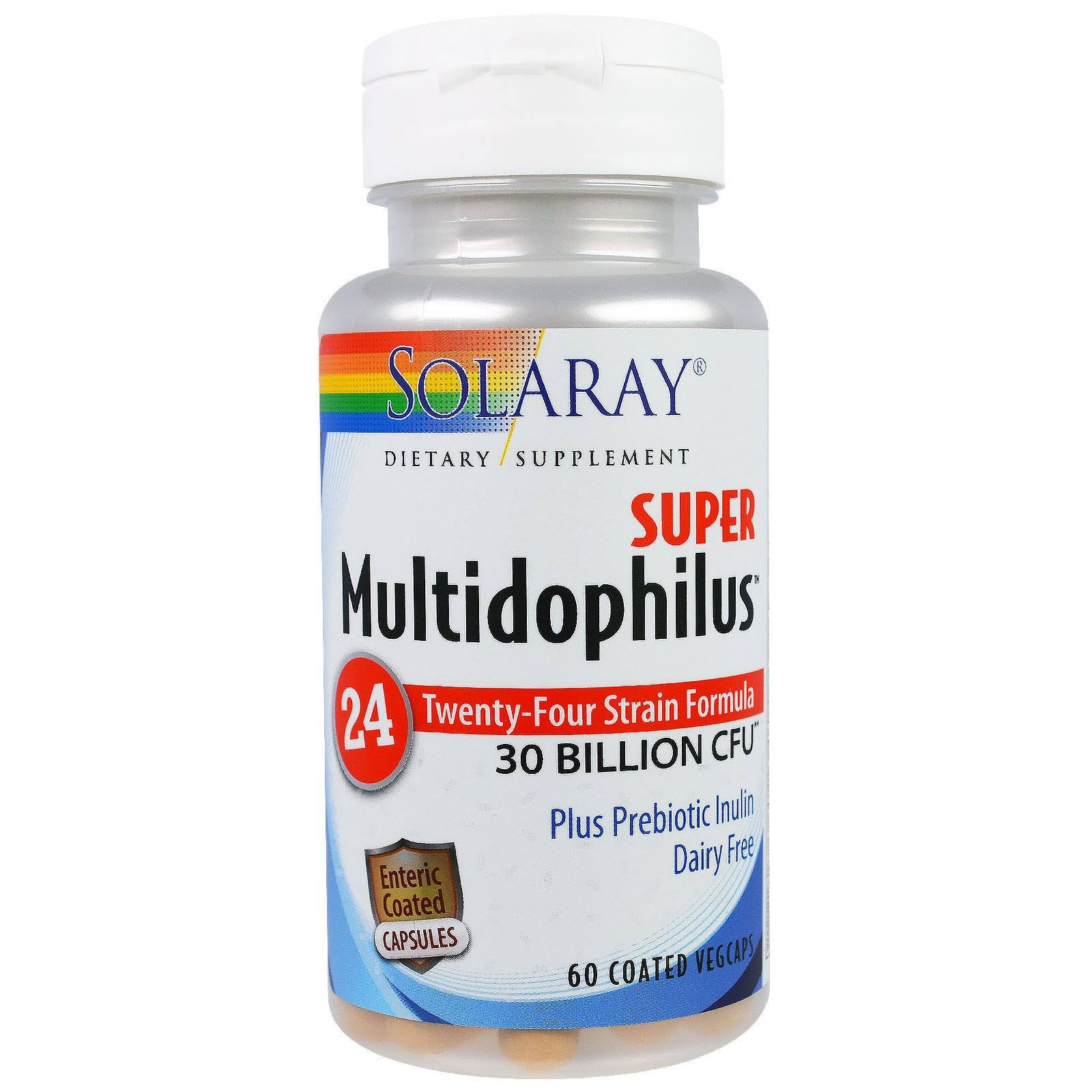 Solaray Super Multidophilus Dietary Supplement - 60 Vegetarian Capsule