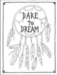 Instant Download Hand Drawn Dreamcatcher Coloring Page Clip Art