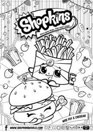 Shopkins Coloring Pages Season 3 Wise Fry Cheddar