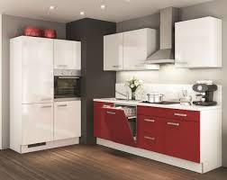 einbauküche mankavito 1 weiß glanz rot glanz küchenzeile 360 cm mit e geräte