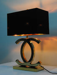 Bed Bath And Beyond Canada Lamp Shades by Chanel Lamps Champagne Gold Black Lampshade 100 Usd Online