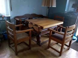 rhöner esszimmer antik eiche tisch bänke stühle 1930er jahre
