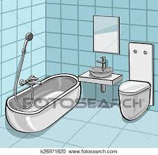 bathroom clipart k26971620 fotosearch