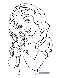 Snow White With A Kitten
