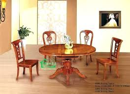 Round Wood Dining Table Set Kitchen Wooden