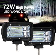 100 Led Work Lights For Trucks Shop For Colight 2PC 5INCH 72W Off Road LED Light Bar Spot Beam