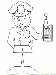 Line Drawings Online Police Officer Coloring Page At Color Pages