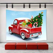 100 Funny Truck Pics Amazoncom Christmas Decor Tapestry Wall Hanging Christmas