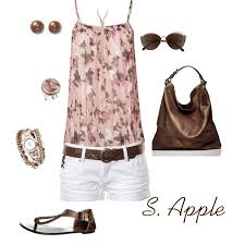 Pink And Brown Summer Outfit