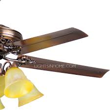 Shabby Chic Ceiling Fans by Blade 6 Lights Bronze Shabby Chic Ceiling Fans With Lights
